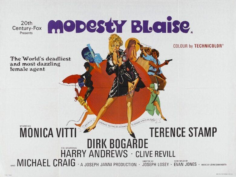 modesty blaise 唇からナイフ