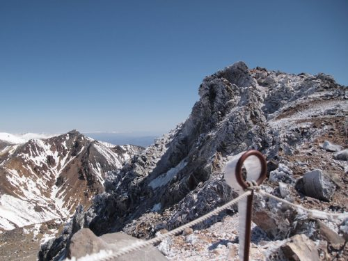 茶臼岳と朝日岳 黒磯